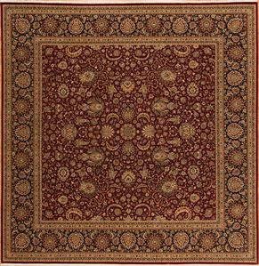 Kirman 77231 Square<div>14 Square 14 x 14 Red/Black fine wool pile Hand-knotted in Pakistan rugs</div>