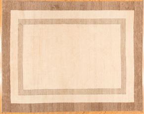Gabbeh 70060<div>13 x 18 13 x 16-7 Ivory/Brown hand spun wool pile Hand-knotted in Iran rugs</div>