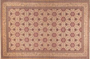 Isfahan ZOR687<div>17 x 25 16-5 x 24-9 Cream/Beige fine wool and silk Hand-knotted in Iran rugs</div>