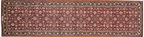 Kashan 52340 Runner<div>4 x 16 4 x 15-9 Burgundy/Black fine wool pile Hand-knotted in Pakistan rugs</div>