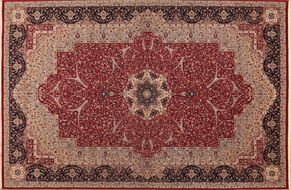 Kirman 84641<div>13 x 20 13 x 20-2 Red/Black fine wool pile Hand-knotted in Pakistan rugs</div>