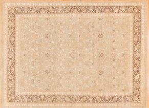 Oushak 85021<div>9 x 12 9 x 12 Gray hand spun wool pile Hand-knotted in Pakistan rugs</div>