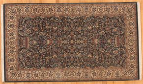 Tabriz 86010<div>3 x 5 3-1 x 5-3 Blue/Ivory fine wool pile Hand-knotted in Pakistan rugs</div>