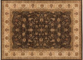 Tabriz 82955<div>10 x 14 10-3 x 14 Black/Beige fine wool pile Hand-knotted in Pakistan rugs</div>