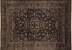 Isfahan 68297 Wool and Silk<div>9 x 12 8-1 x 11-8 Black fine wool and silk Hand-knotted in Iran rugs</div>