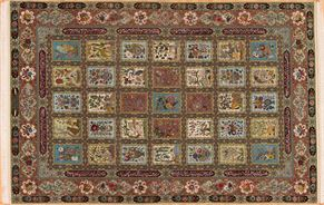 Tabriz 71229 Wool and Silk<div>8 x 10 7 x 10-7 Multi fine wool and silk Hand-knotted in Iran rugs</div>