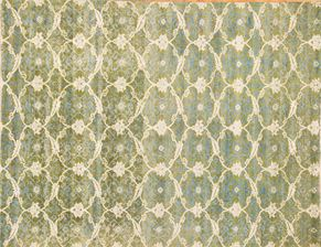 86968<div>9 x 12 9 x 11-9 Green hand-spun wool pile Hand-knotted in Pakistan rugs</div>