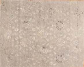 Oushak 87038<div>12 x 15 12 x 15-1 Gray hand spun wool pile Hand-knotted in Pakistan rugs</div>
