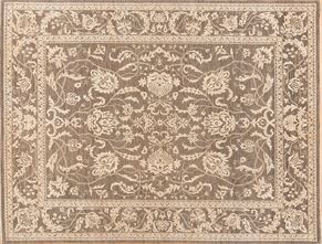 Oushak 84312<div>9 x 12 9-1 x 11-10 Gray/Ivory hand spun wool pile Hand-knotted in Pakistan rugs</div>