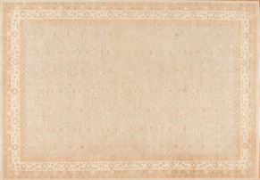 Oushak 87028<div>12 x 18 11-5 x 16-10 Gray/Ivory hand-spun wool pile Hand-knotted in Pakistan rugs</div>