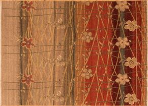 Contemporary 85904<div>9 x 12 8-6 x 11-10 Rust hand-spun wool pile Hand-knotted in India rugs</div>