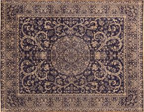 Oushak 84762<div>8 x 10 8 x 10-1 Navy Blue hand-spun wool pile Hand-knotted in Pakistan rugs</div>