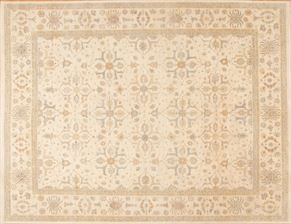 Tabriz 87025<div>12 x 15 11-9 x 15-3 Ivory hand-spun wool pile Hand-knotted in Pakistan rugs</div>