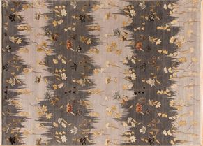 Contemporary 83104<div>9 x 12 9-2 x 12-6 Multi fine wool and silk pile Hand-knotted in India rugs</div>