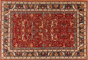 Shirvan 85687<div>12 x 18 12-1 x 17-6 Rust/Blue fine wool pile Hand-knotted in Pakistan rugs</div>