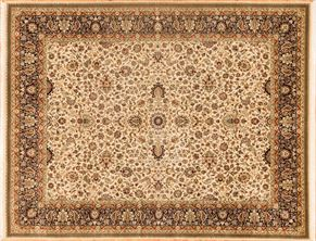 Kirman 77205<div>8 x 10 8 x 10-2 Cream/Blue fine wool pile Hand-knotted in Pakistan rugs</div>