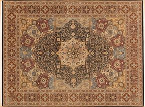Tabriz 84725<div>9 x 12 9-1 x 12-2 Black/Cream fine wool pile Hand-knotted in Pakistan rugs</div>