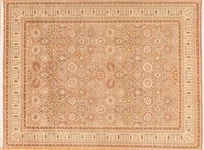 Tabriz 80331<div>9 x 12 9 x 12 Brown/Ivory fine wool pile Hand-knotted in Pakistan rugs</div>