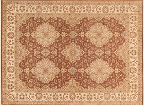 Kirman 74586<div>9 x 12 9 x 12-4 Brown/Gold fine wool pile Hand-knotted in Pakistan rugs</div>
