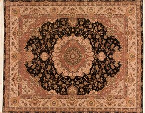 Tabriz C20501<div>8 x 10 8 x 10 Black/Rose fine wool pile Hand-knotted in China rugs</div>