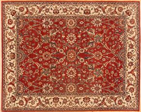 Sultanabad 77352<div>8 x 10 8 x 10 Red/Ivory fine wool pile Hand-knotted in Pakistan rugs</div>