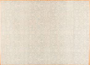 Oushak 84926<div>9 x 12 9 x 12-3 Light Blue/Ivory  fine wool pile Hand-knotted in Pakistan rugs</div>