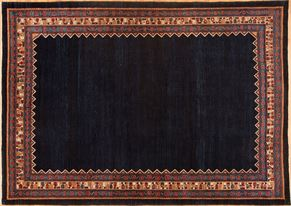 Gabbeh 59683<div>8 x 10 7 x 9-10 Navy Blue fine wool pile Hand-knotted in Iran rugs</div>