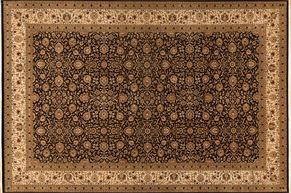 Kashan 73823<div>12 x 18 12-1 x 18-2 Black/Ivory fine wool pile Hand-knotted in Pakistan rugs</div>