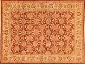 Tabriz 80280<div>9 x 12 9-1 x 12-3 Rust/Gold hand spun wool pile Hand-knotted in Pakistan rugs</div>