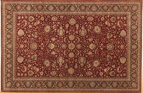 Kirman 85729<div>12 x 18 12-1 x 18-2 Red/Black fine wool pile Hand-knotted in Pakistan rugs</div>