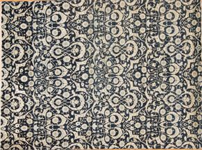 Contemporary 87001<div>8 x 10 8-3 x 11 Blue hand-spun wool pile Hand-knotted in Pakistan rugs</div>