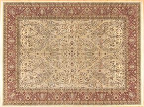 Tabriz 85676<div>9 x 12 9-1 x 12 Ivory/Red Fine wool pile Hand-knotted in Pakistan rugs</div>