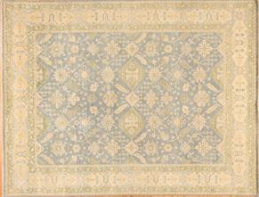 Tabriz 86184<div>9 x 12 9 x 12-3 Ivory/Green/Blue hand spun wool pile Hand-knotted in Pakistan rugs</div>