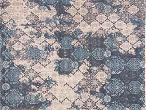 Contemporary 86982<div>9 x 12 9-4 x 12-1 Blue hand spun wool pile Hand-knotted in Pakistan rugs</div>