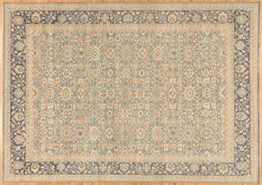Tabriz 86177<div>9 x 12 8-7 x 12-3 Blue/Gray hand spun wool pile Hand-knotted in Pakistan rugs</div>