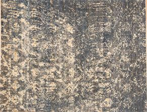 Contemporary 87380<div>9 x 12 8-9 x 12 Blue/Ivory hand spun wool pile Hand-knotted in Pakistan rugs</div>