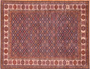 Kazak 87753<div>9 x 12 9 x 11-10 Blue hand spun wool pile Hand-knotted in Pakistan rugs</div>