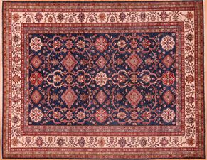 Kazak 87747<div>9 x 12 9-1 x 11-7 Blue hand spun wool pile Hand-knotted in Pakistan rugs</div>