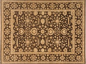 Oushak 87575<div>9 x 12 8-8 x 11-9 Brown hand spun wool pile Hand-knotted in Pakistan rugs</div>