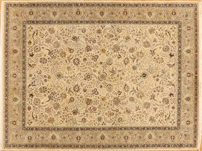 Tabriz 87551<div>9 x 12 9-1 x 12-2 Ivory/Cream fine wool pile Hand-knotted in Pakistan rugs</div>