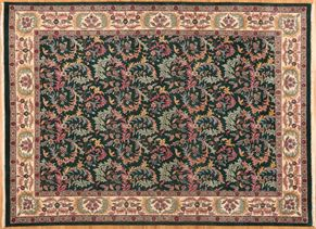 Jaipur 41370<div>9 x 12 9 x 12-1 Green/Ivory hand spun wool pile Hand-knotted in India rugs</div>