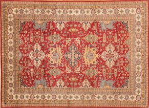 Kazak 87397<div>9 x 12 8-9 x 12-2 Red hand spun wool pile Hand-knotted in Pakistan rugs</div>