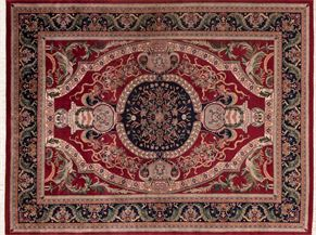 Serapi 43005<div>9 x 12 9 x 11-9 Red/Navy fine wool pile Hand-knotted in India rugs</div>