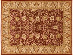 Tabriz 84812<div>9 x 12 9-2 x 12-1 Red/Ivory fine wool pile Hand-knotted in Pakistan rugs</div>