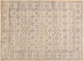 Oushak 87548<div>9 x 12 8-9 x 12-2 Gray hand spun wool pile Hand-knotted in Pakistan rugs</div>