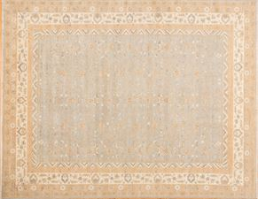 Oushak 87533<div>9 x 12 9-1 x 11-10 Gray/Ivory hand spun wool pile Hand-knotted in Pakistan rugs</div>