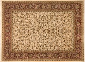 Tabriz 87508<div>9 x 12 9-1 x 12-3 Ivory/Red fine wool pile Hand-knotted in Pakistan rugs</div>