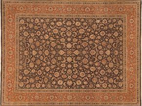 Tabriz 87502<div>9 x 12 9 x 11-10 Black/Rust hand spun wool pile Hand-knotted in Pakistan rugs</div>