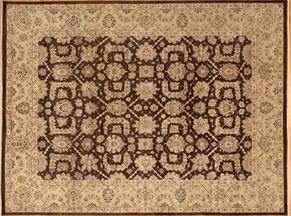 Tabriz 86953<div>9 x 12 9 x 12-1 Brown/Blue hand spun wool pile Hand-knotted in Pakistan rugs</div>