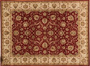 Kashan 86692<div>9 x 12 9 x 12-1 Red/Ivory fine wool pile Hand-knotted in Pakistan rugs</div>